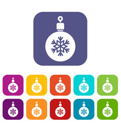 Ball for the christmas tree icons set vector