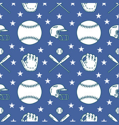 Baseball softball sport game seamless vector