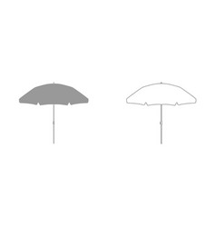 beach umbrella it is icon vector image