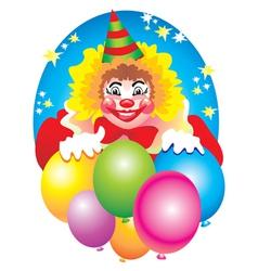 Birthday clown vector