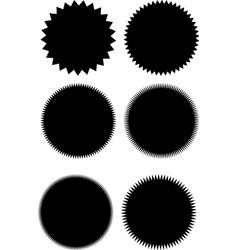 black and white abstract shapes starburst sunburst vector image