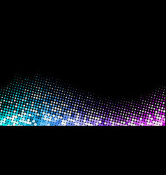 black background with colorful halftone dotted vector image