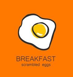 breakfast scrambled eggs vector image