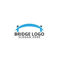 Bridge logo icon template vector
