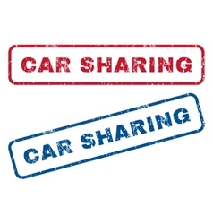 Car sharing rubber stamps vector