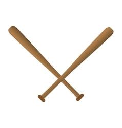 cartoon bat baseball icons vector image