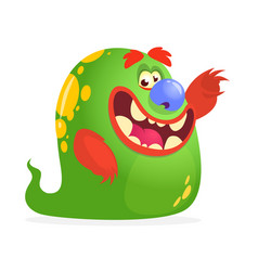 cartoon green monster vector image