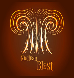 cartoon nuclear blast vector image