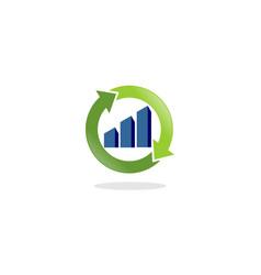 Chart recicle logo vector