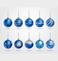 christmas decoration set vector image