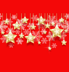christmas seamless horizontal pattern with hanging vector image