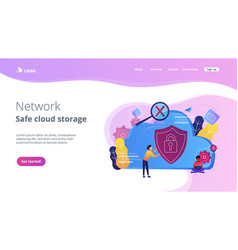cloud computing security concept vector image