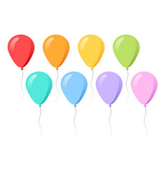 colorful balloons collection flat style vector image
