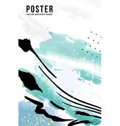 Creative blue paint cover design backgrounds vector