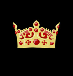 crown sketch for your design vector image