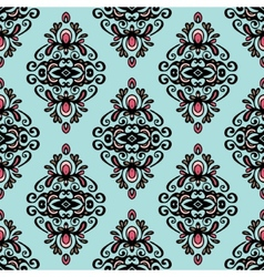 Damask vintage wallpaper seamless background vector