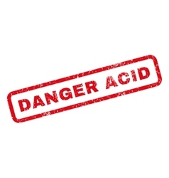 Danger Acid Rubber Stamp vector image
