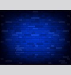 Dark blue brick wall realistic background vector