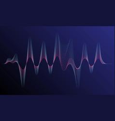 digital equalizer sound wave vector image