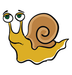 emoji a sad yellow-colored snail or color vector image