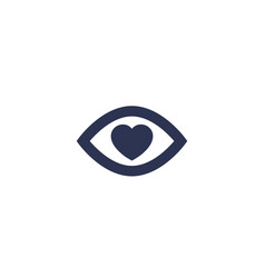 eye and heart icon vector image