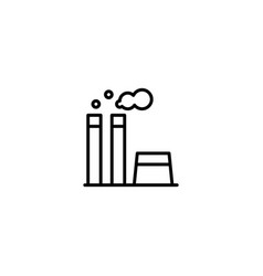 factory industrail icon vector image