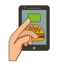Fast food order website icon vector