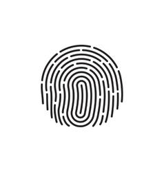 fingerprint Icon Image Flat fingerprint icon app vector image