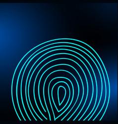 fingerprint on a blurred background vector image