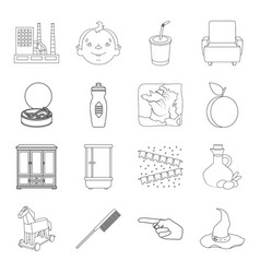Fitness plumbing history and other web icon in vector
