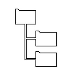 Folder structure black icon vector