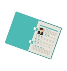 Folder with man curriculum vitae vector