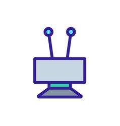 Hdtv antenna icon outline vector