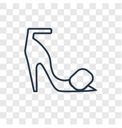 High heels concept linear icon isolated on vector