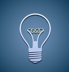 Icon incandescent lamp vector