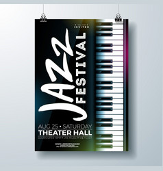 Jazz music festival flyer design with piano vector