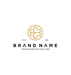 Letter eeb logo design concept vector