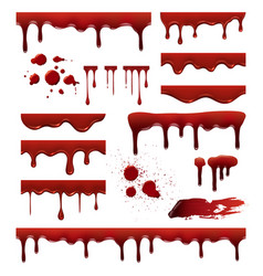 liquid blood red sauces drops splashes blob blood vector image