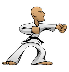 martial arts karate guy cartoon vector image