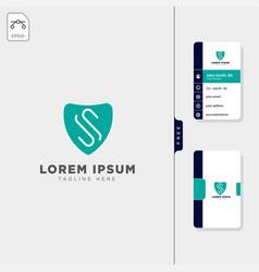 Minimal s logo template free business card design vector