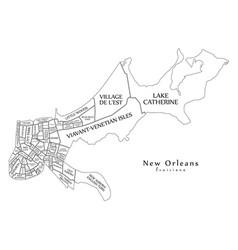 Modern city map - new orleans louisiana city of vector