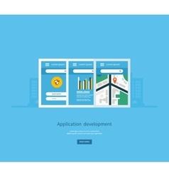 Modern flat design application development concept vector