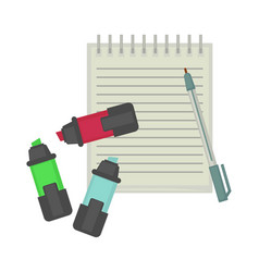 News journalist professional tools equipment vector