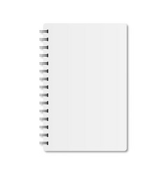 notebook with spiral and shadow on a white vector image