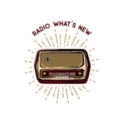 old vintage radio vector image