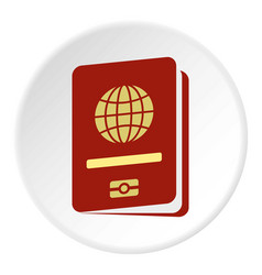passport icon circle vector image