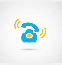 Phone colorful icon - call vector