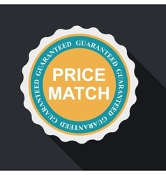 Price Match Quality Label Set in Flat Modern vector image