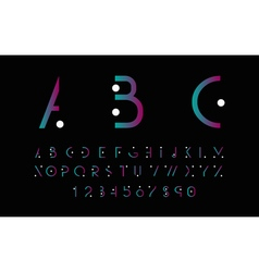 Purple alphabetic font vector