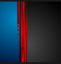 Red blue and black hi-tech abstract corporate vector